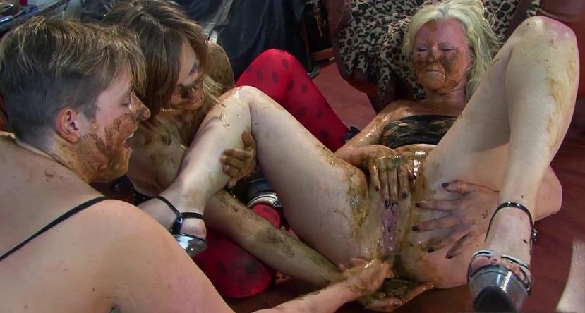 Orgy scat Italian mature