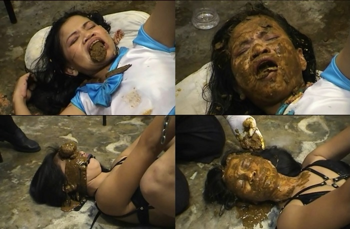 Shit on face and eat feces thai girl (SD 640x480)
