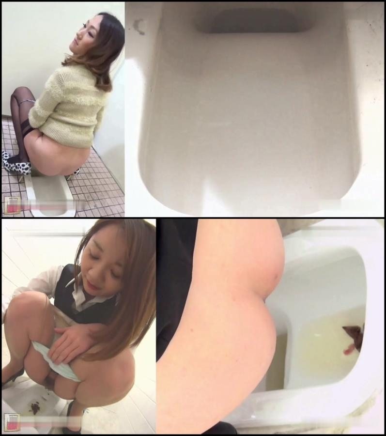 Girls self filmed natural poop in toilet - BFJG-40 (FullHD 1920x1080)