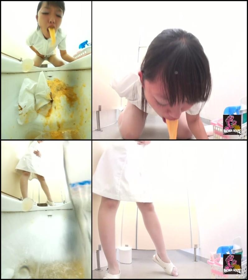 Girl puke in toilet after food poisoning - BFJV-11 (FullHD 1920x1080)