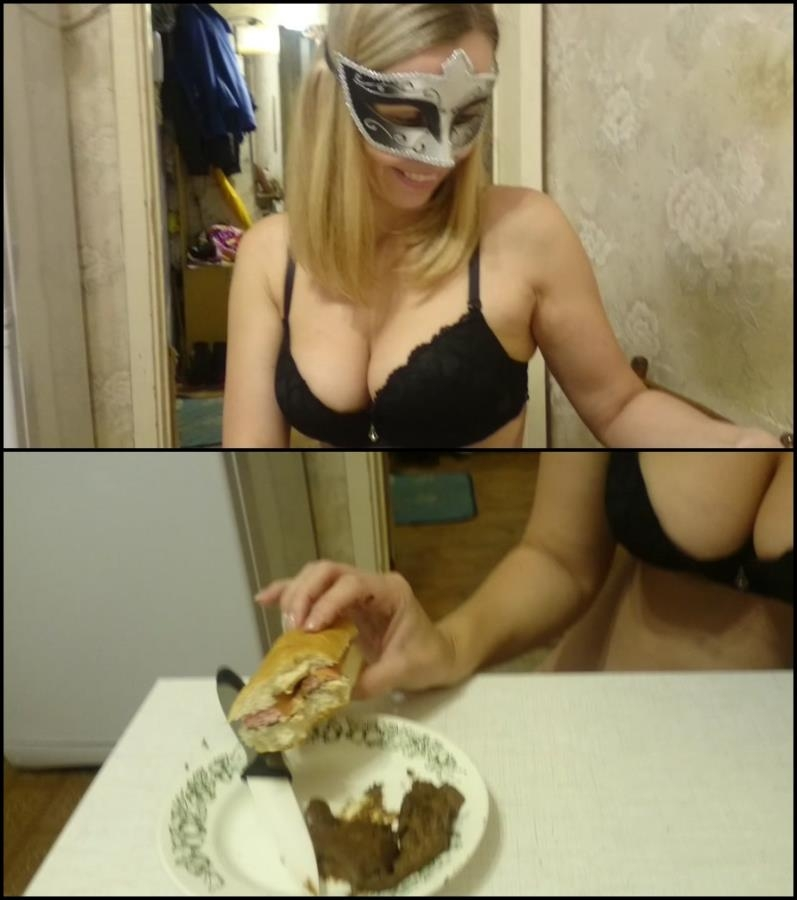 Brown wife - eats hotdog with shit, is delicious food - Special #706 (FullHD 1920x1080)