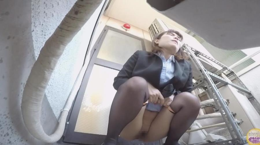Blocked Toilet, Office Lady Upskirt Peeing - BFSL-205 (FullHD 1920x1080)